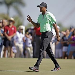 Blackpool Citizen: Tiger Woods has moved into contention at Doral (AP)