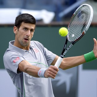 Novak Djokovic, pictured, faces in-form Marin Cilic next (AP)
