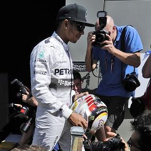 Blackpool Citizen: Lewis Hamilton completed just half a lap in the first practice session of the Australian Grand Prix before his Mercedes stopped (AP)