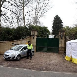 Blackpool Citizen: Police outside the home of Boris Berezovsky after his death.