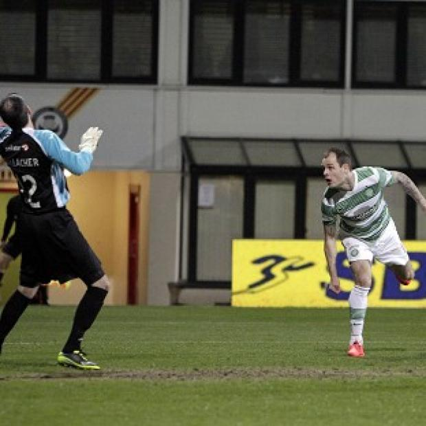 Blackpool Citizen: Anthony Stokes opens the scoring for Celtic