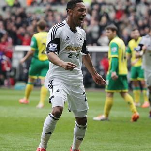 Blackpool Citizen: Jonathan de Guzman netted twice in a much-needed win for Swansea
