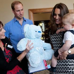 Blackpool Citizen: The Duke and Duchess of Cambridge and Prince George visit Plunket, a child welfare group at Government House, Wellington