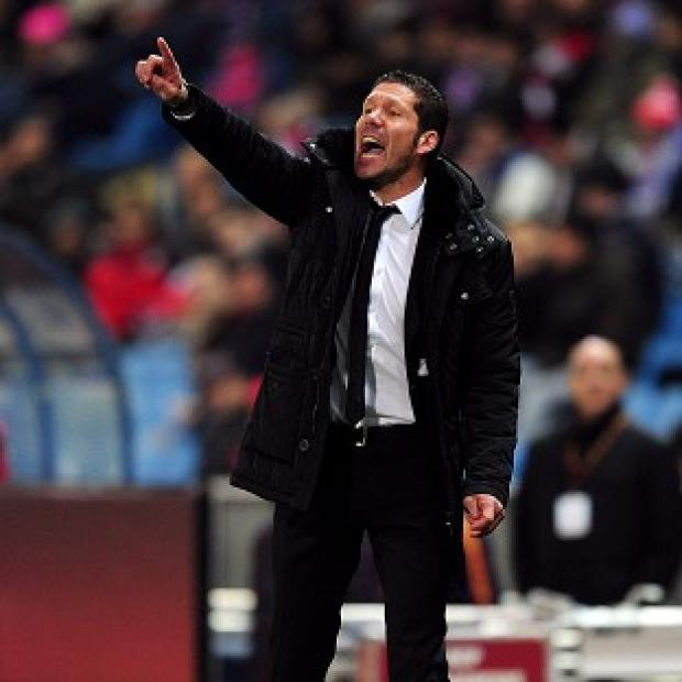Blackpool Citizen: Diego Simeone, pictured, does not know whether Diego Costa will remain with Atletico Madrid beyond the end of this season