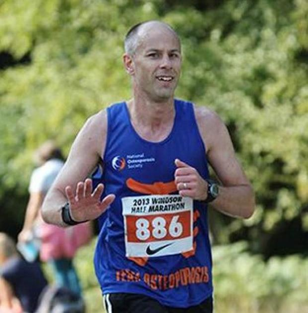 Blackpool Citizen: Robert Berry was raising money for charity during his London Marathon run.