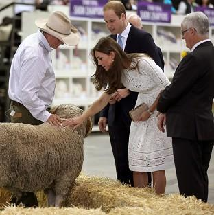 Blackpool Citizen: The Duke and Duchess of Cambridge at the Royal Easter Show at Sydney Olympic Park