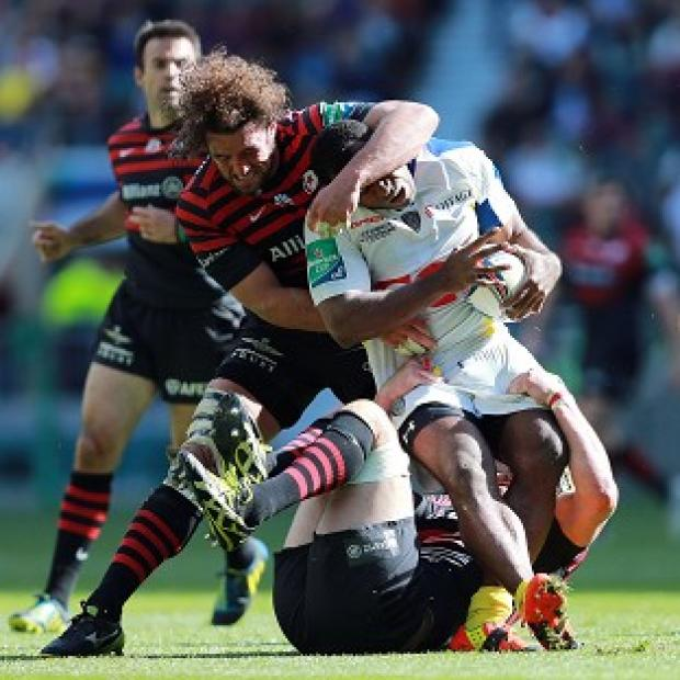 Blackpool Citizen: Jacques Burger made 27 tackles against Clermont in Saturday's Heineken Cup semi-final