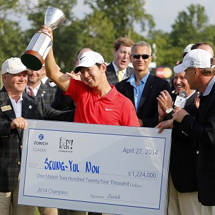 Noh Seung-yul was victorious in New Orleans (AP)