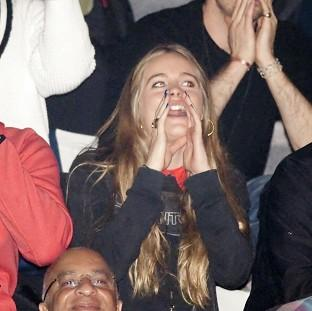 Blackpool Citizen: Cressida Bonas heckles as Prince Harry gives a speech at the inaugural WE Day UK at Wembley Arena in London