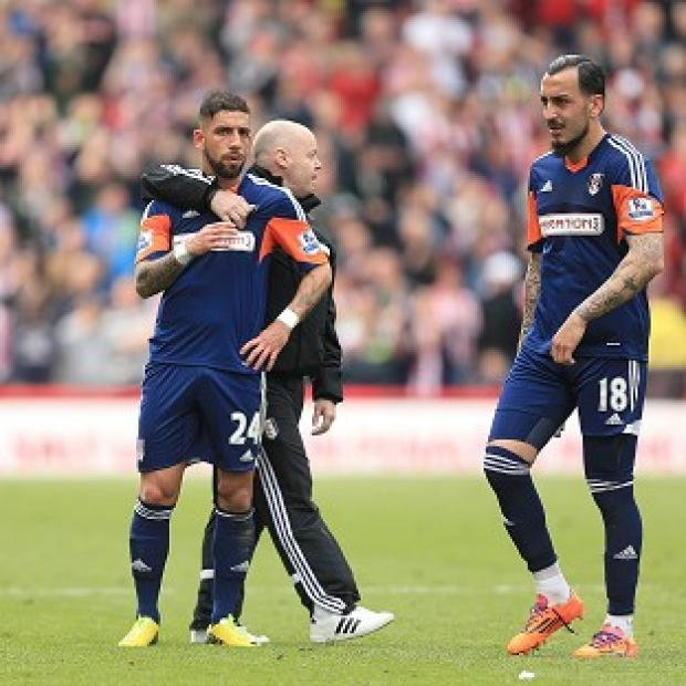 Blackpool Citizen: Fulham were relegated following their defeat at Stoke and Sunderland's victory over Manchester United
