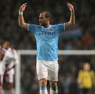 Blackpool Citizen: Pablo Zabaleta hopes to be celebrating come 5pm on Sunday
