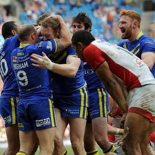Warrington outscored St Helens eight tries to four