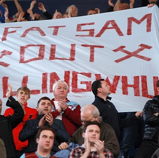 Sam Allardyce is not popular with West Ham's fans