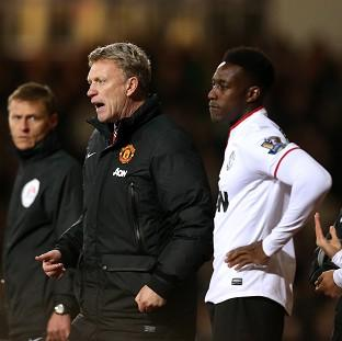 Blackpool Citizen: Danny Welbeck, centre right, hit back at David Moyes' comments