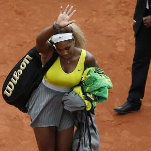 Serena Williams, pictured, insists she will bounce back from her defeat to Garbine Muguruza (AP)