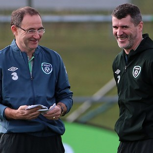 Roy Keane, right, has held talks with Celtic, according to Republic of Ireland boss Martin O'Neill, left