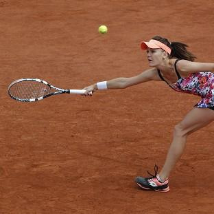 Croatia's Ajla Tomljanovic stunned third seed Agnieszka Radwanska, pictured, to reach the fourth round of the French Open (AP)