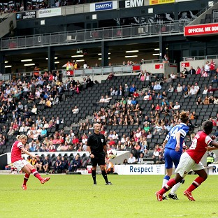 Kelly Smith, far left, scored Arsenal's first goal