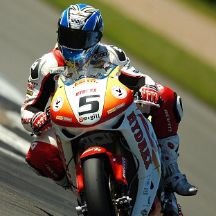 Karl Harris, pictured in action in a British Superbike race, has been killed at the Isle of Man TT races