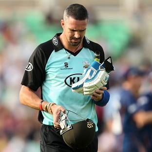 Kevin Pietersen was dismissed for five