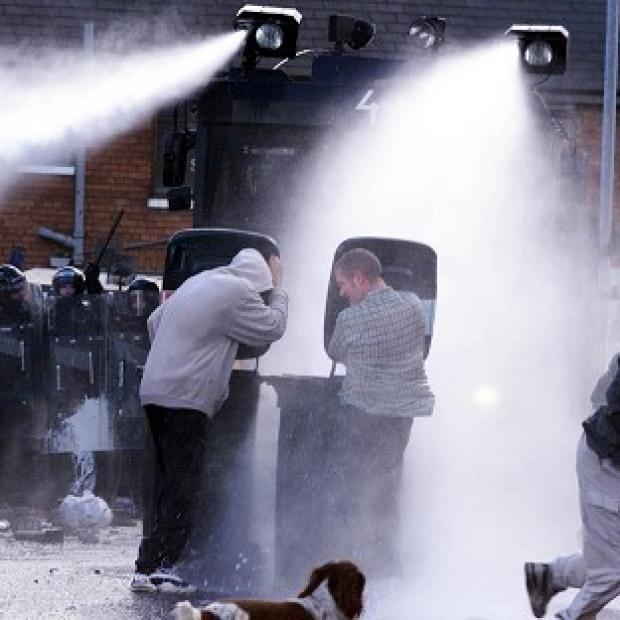 Blackpool Citizen: Water cannon have previously been deployed in Northern Ireland