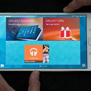 Blackpool Citizen: Samsung unveil their new Galaxy Tab S 8.4 inch model at Canary Wharf in London.