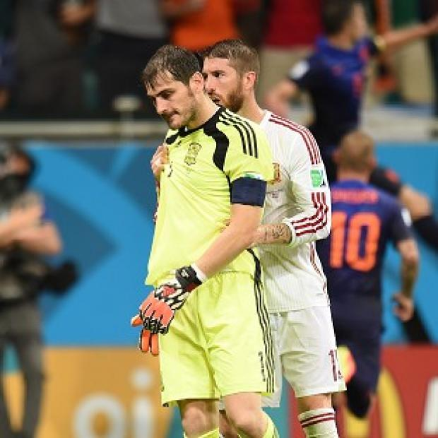 Blackpool Citizen: Sergio Ramos, right, has lent his support to Iker Casillas