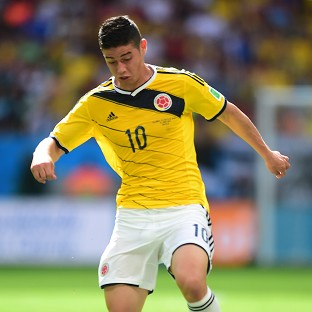 James Rodriguez scored Colombia's first goal