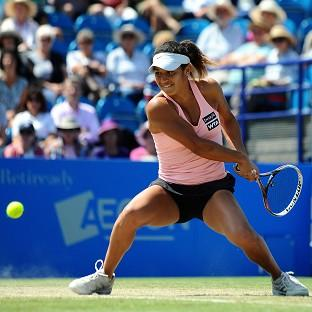 Heather Watson failed in her bid to make the final in Eastbourne