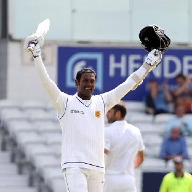 Blackpool Citizen: Angelo Mathews scored a century during day four of the second Investec Test match at Headingley