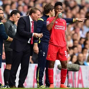 Brendan Rodgers, left, was full of praise for Raheem Sterling, right