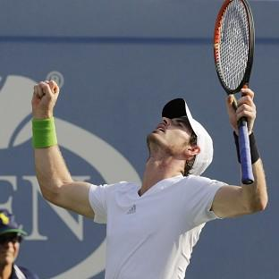 Andy Murray is happy with his form ahead of a US Open quarter-final against Novak Djokovic (AP)