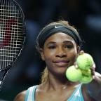 Blackpool Citizen: Serena Williams must wait to see whether she reaches the semi-finals of the WTA Finals in Singapore (AP)