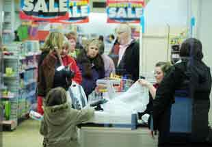 Shoppers at Woolworths in Blackburn