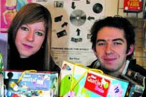 Cleveleys toyshop backs Tins and Toys appeal.