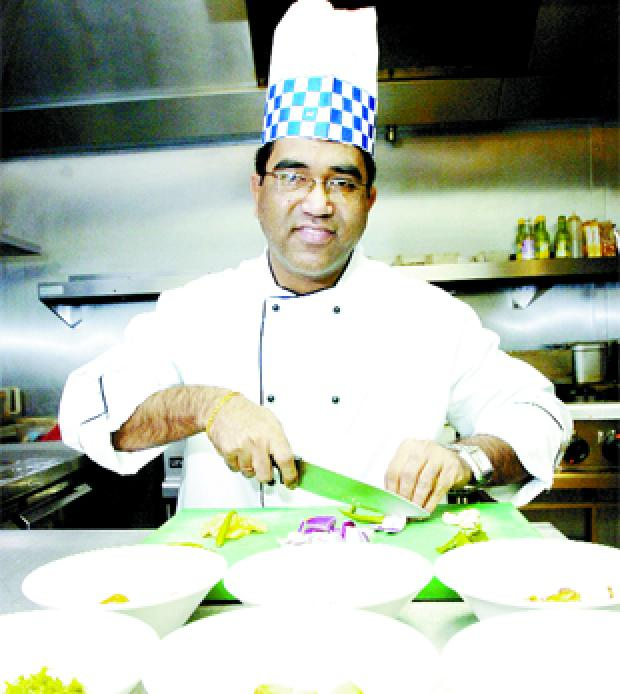 TEMPTING: Chef Pradip Nale